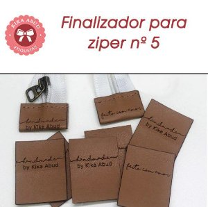 Finalizador para Zíper nº 5 - CARAMELO