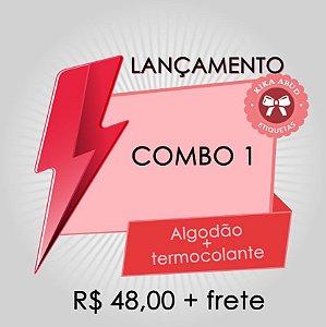 COMBO 1: etiquetas de algodão bandeirinha + termocolantes
