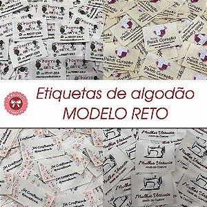 Etiqueta de Algodão Modelo RETO