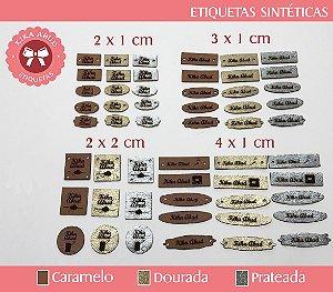 Etiquetas Sintéticas 2 x 1 cm - CORES FOSCAS