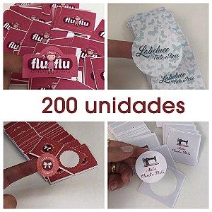 Adesivos de Papel - 200 unidades