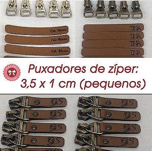 Puxadores de Zíper 3,5 x 1 cm aprox