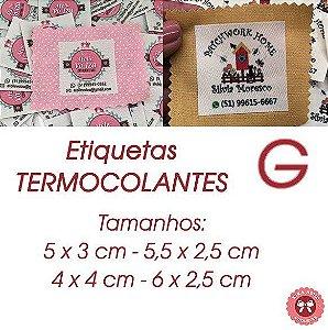 Etiquetas TERMOCOLANTES - tamanho G