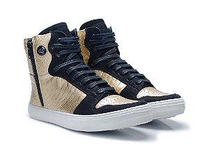Tênis Hardcorefootwear - NOBUCK PRETO SOFT OURO - cod01476