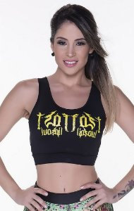 Top Cropped Regatinha Crossfit Fitnes Tam P - cod00250