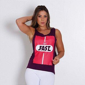 Regata Fitness Cava Larga Fast Roxo Tam M - cod01933