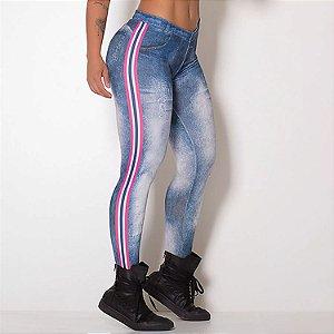 Legging Fitness Fake Jeans Elastic - cod02008 cod02009