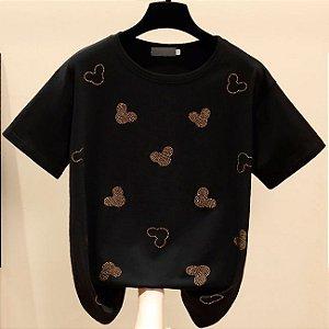 Camiseta Feminina Mickey Shinny