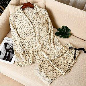 Pijama Feminino Model Oncinha