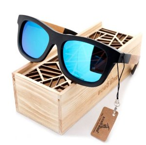 9b783155ba46a Óculos Bamboo Quadrado de Madeira