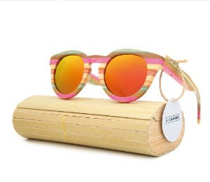 37ee1fe9d988c Óculos Gykids Colorido de Bambu