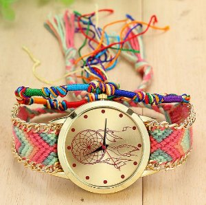 Relógio Feminino Artesanal Filtro dos Sonhos