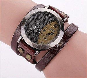 Relógio Feminino de couro Vintage