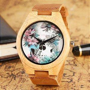 Relógio Feminino de Bambu Mexicana