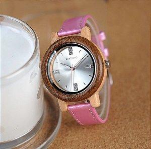 Relógio Feminino de Bambu Princess