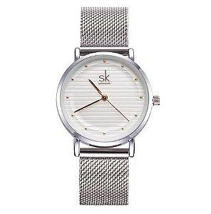 Relógio Feminino SK aço