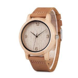 Relógio Feminino de Bamboo Oriental