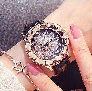 Relógio Feminino Luxury Couro