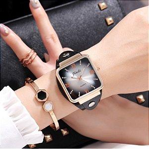Relógio Feminino Jbaili Couro