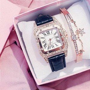 Relógio Feminino Romano + Pulseira