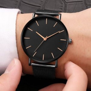 Relógio Feminino Casual Black