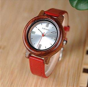 Relógio Feminino de Bambu Mallorca