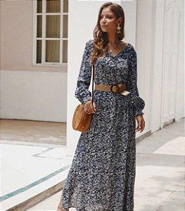 Vestido Boêmio Folk Longo