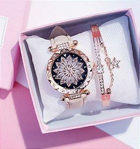 Relógio Feminino Star + Pulseira