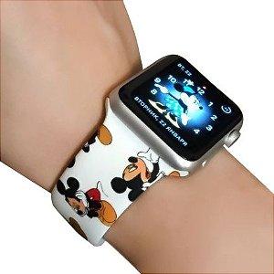 Pulseira em Silicone Michey  para Smartwatch - estilo Apple