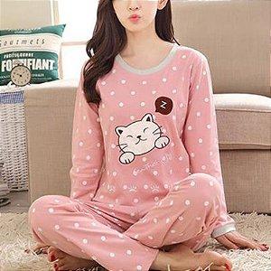 Pijama Feminino Dali Pelúcia
