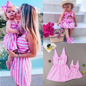 Vestido Tal Mãe Tal Filha Pink