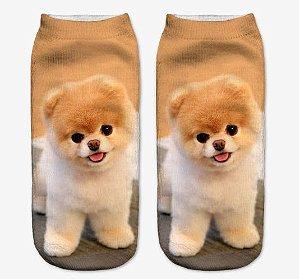Meia Feminina 3D Dogs
