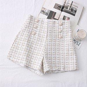 Shorts Feminino Tweed