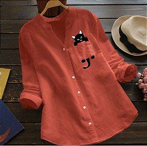 Camisa Feminina Gatinho