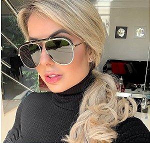 Óculos de Sol Feminino Aviador Glamour