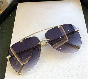 Óculos de Sol Feminino Aviador Luxo