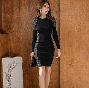 Vestido de Tricot Black