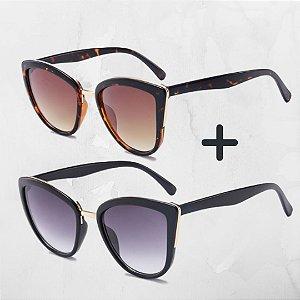 Kit com 2 - Óculos de Sol Feminino DCM