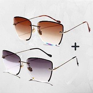Kit com 2 - Óculos de Sol Feminino Kaboo