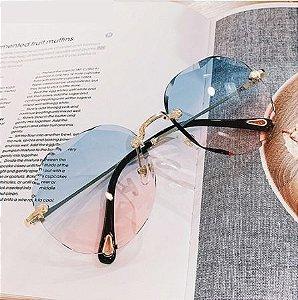 Óculos de Sol Feminino Redondo Vintage