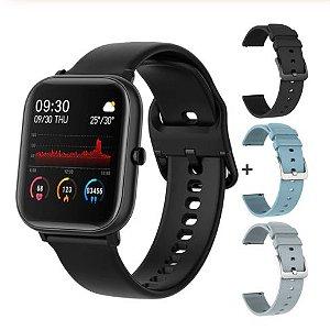 Relógio Eletrônico Smartwatch P8 + 3 Pulseiras