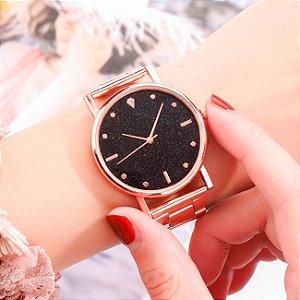 Relógio Feminino Diamante Dial