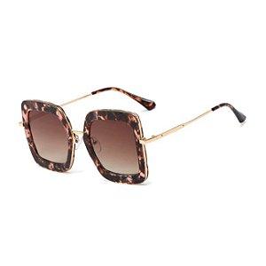 Óculos de sol Feminino Diamante Gradiente