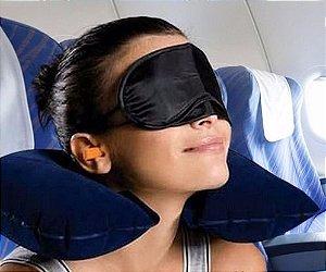 Kit para Dormir em Viagem 3 em 1 - Azul