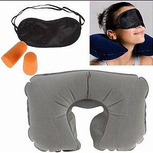 Kit para Dormir em Viagem 3 em 1 - Cinza