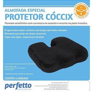 Almofada Especial Protetor Cóccix cor preta