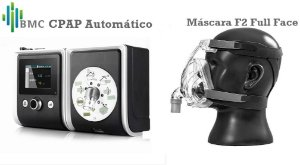 Kit CPAP Auto com máscara Facial BMC