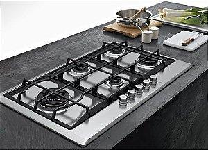 Cooktop em Inox Franke Multicooking 90G LTC 5B 90cm 220V