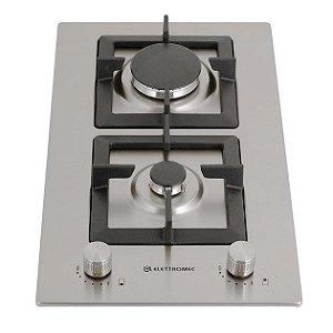 Cooktop a Gás Elettromec  Quadratto 2Q D301-Z2XQ 30cm Bivolt