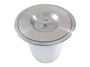 Lixeira de Embutir no Granito Inox Escovado Jomer 10L